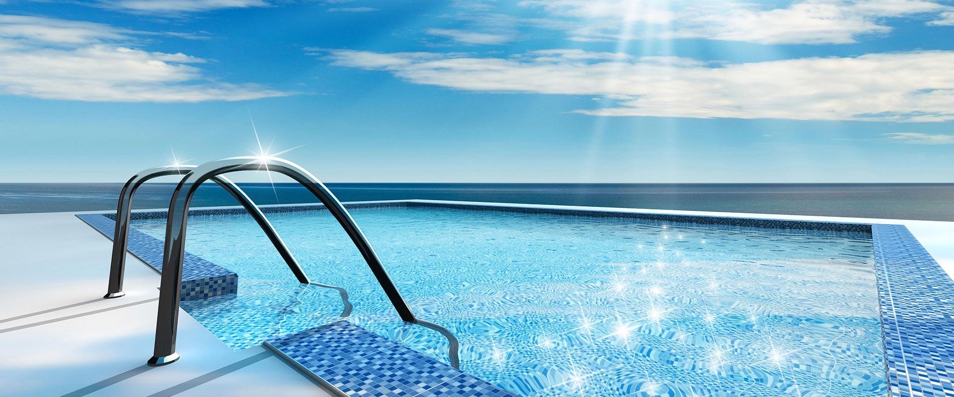 La plage de piscine